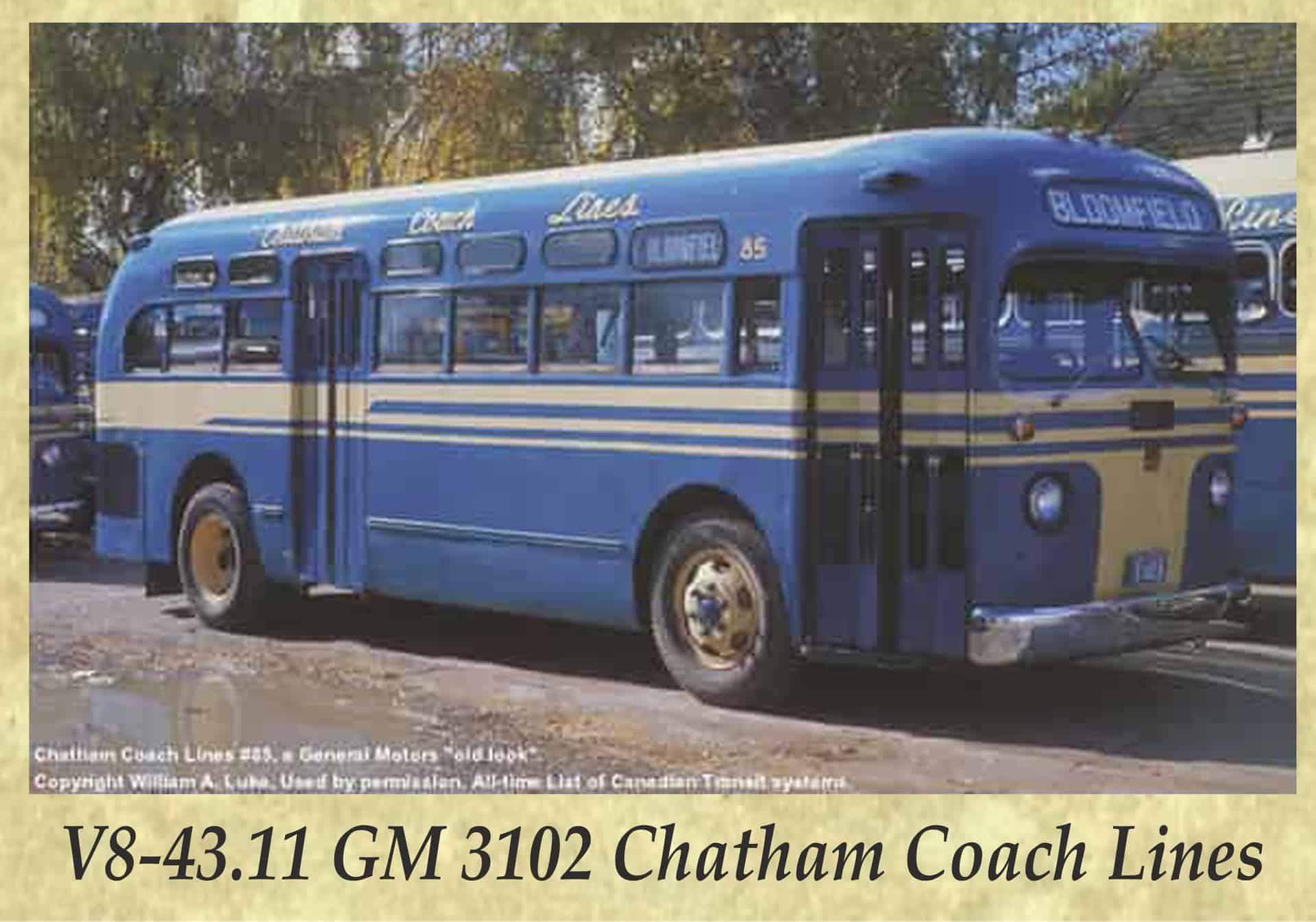 V8-43.11 GM 3102 Chatham Coach Lines