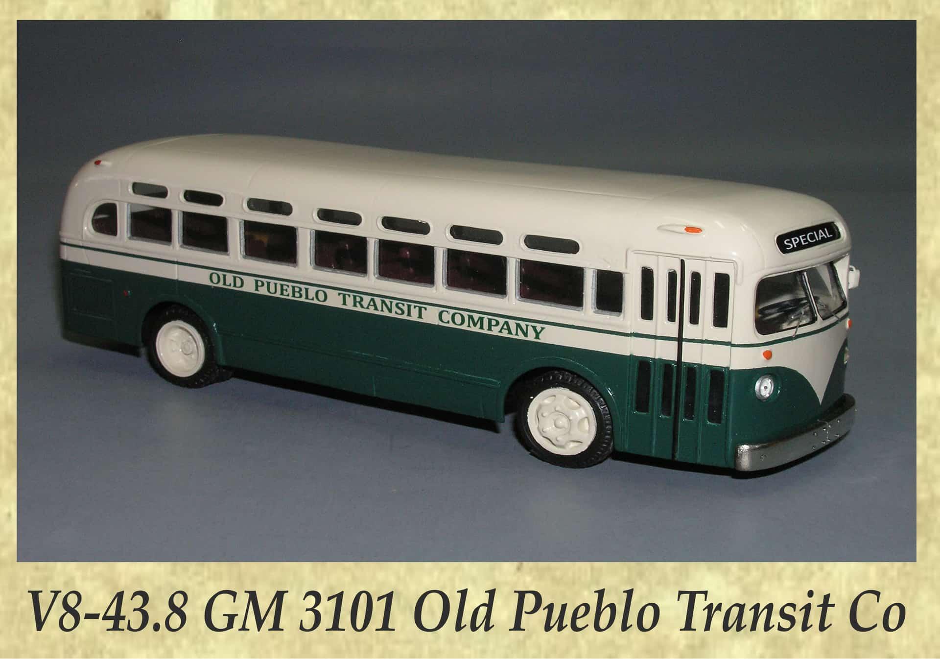 V8-43.8 GM 3101 Old Pueblo Transit Co