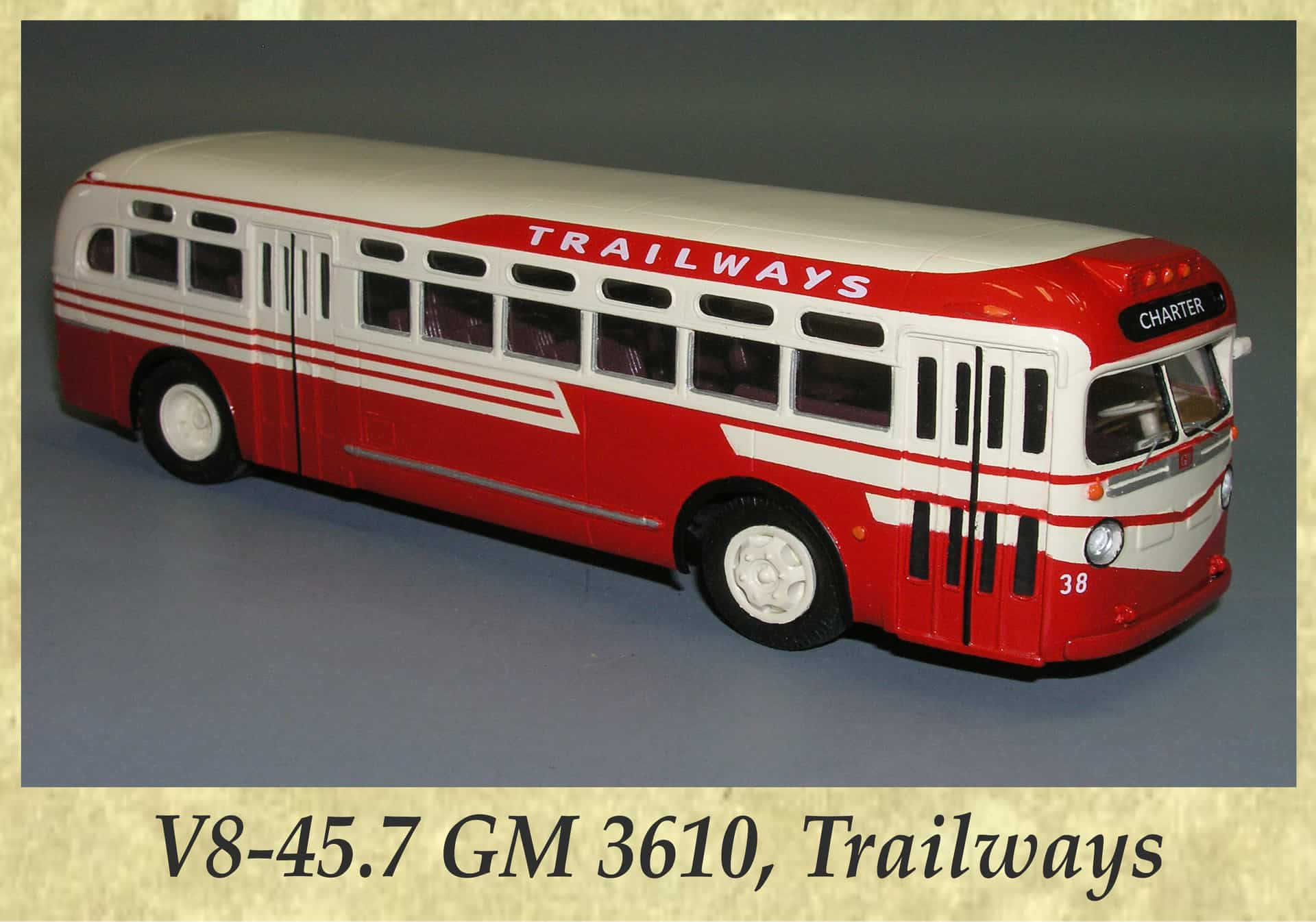 V8-45.7 GM 3610, Trailways