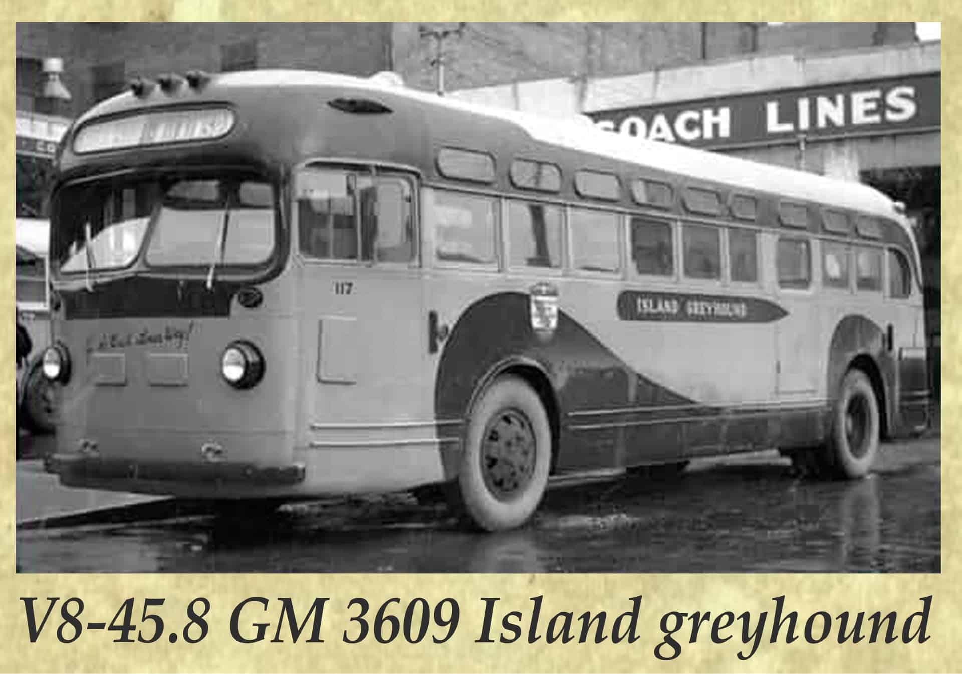 V8-45.8 GM 3609 Island greyhound