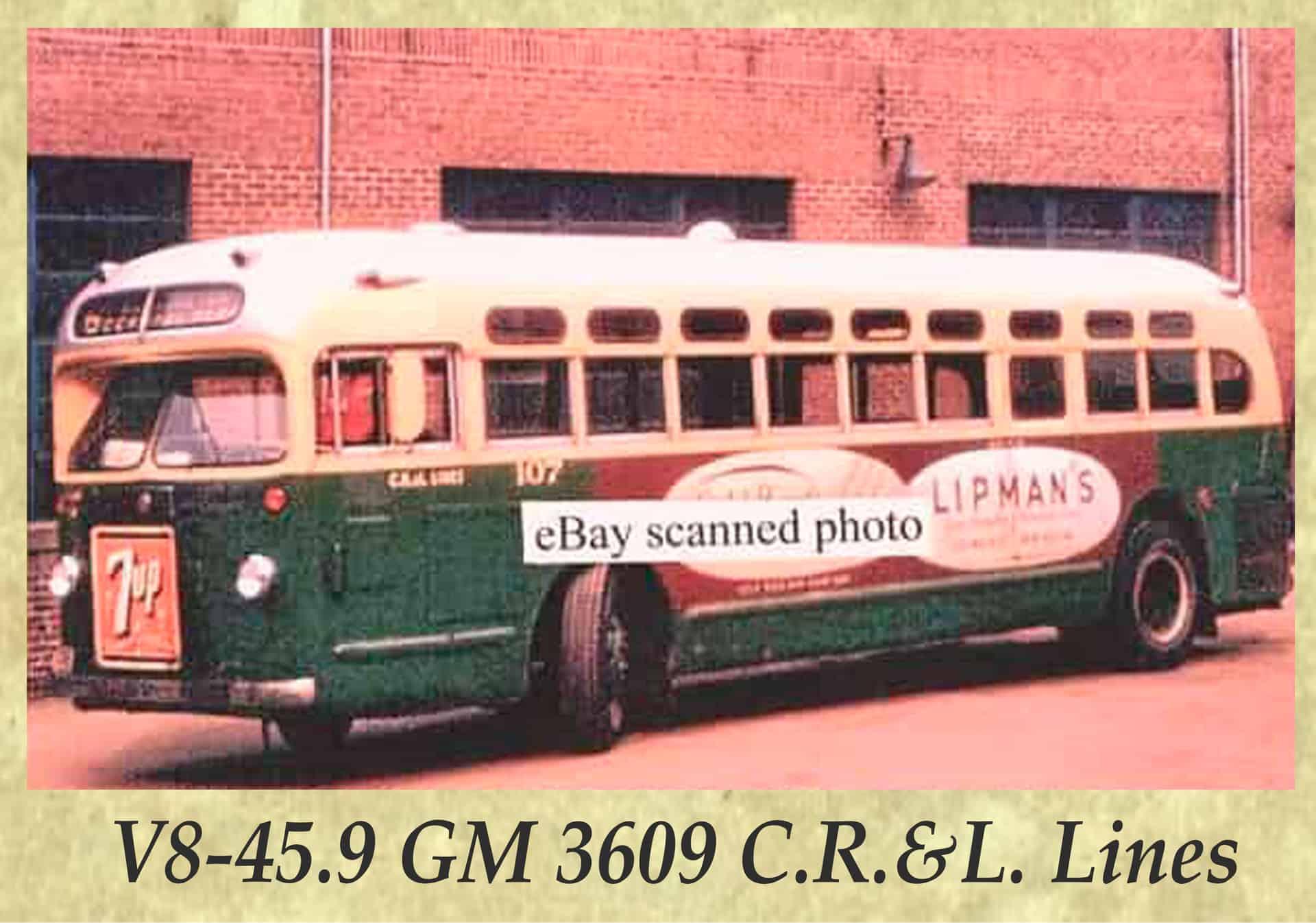 V8-45.9 GM 3609 C.R.&L. Lines