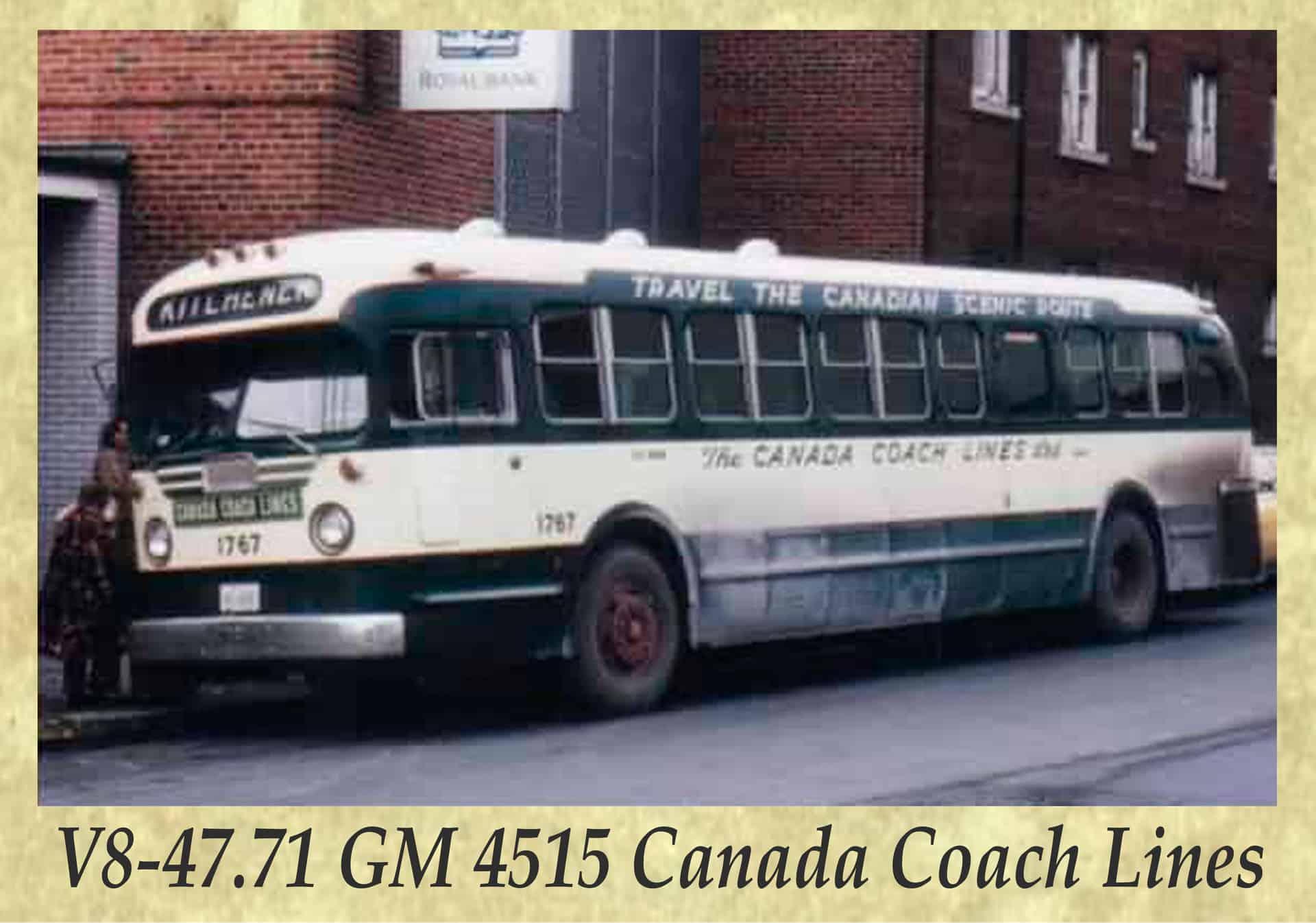V8-47.71 GM 4515 Canada Coach Lines
