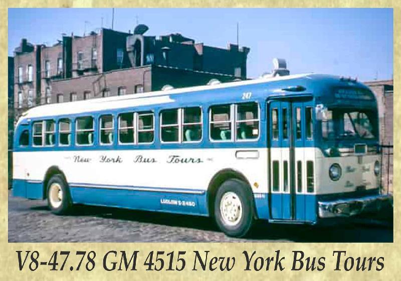 V8-47.78 GM 4515 New York Bus Tours