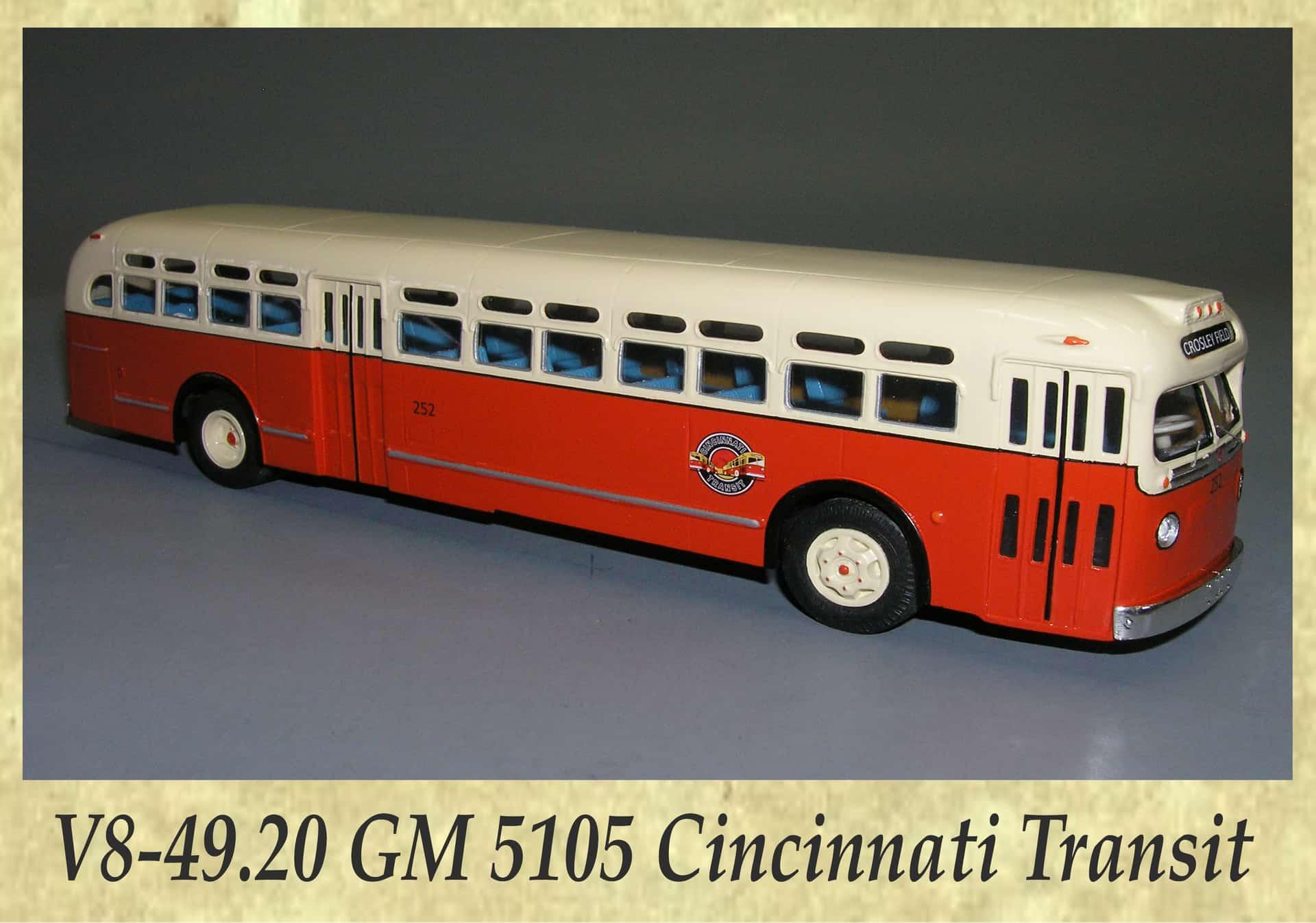 V8-49.20 GM 5105 Cincinnati Transit