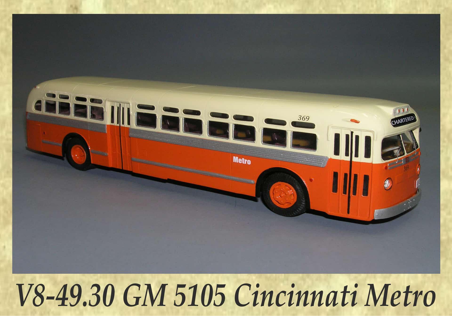 V8-49.30 GM 5105 Cincinnati Metro