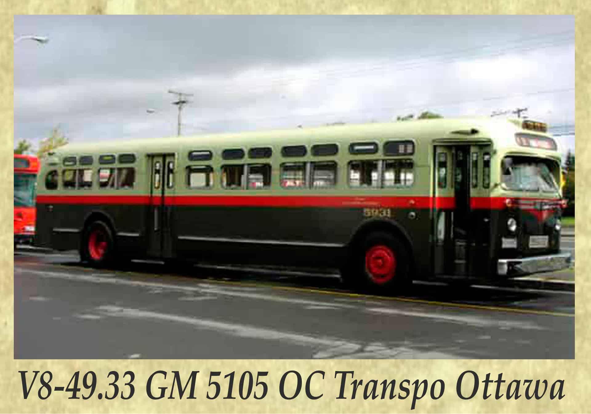 V8-49.33 GM 5105 OC Transpo Ottawa