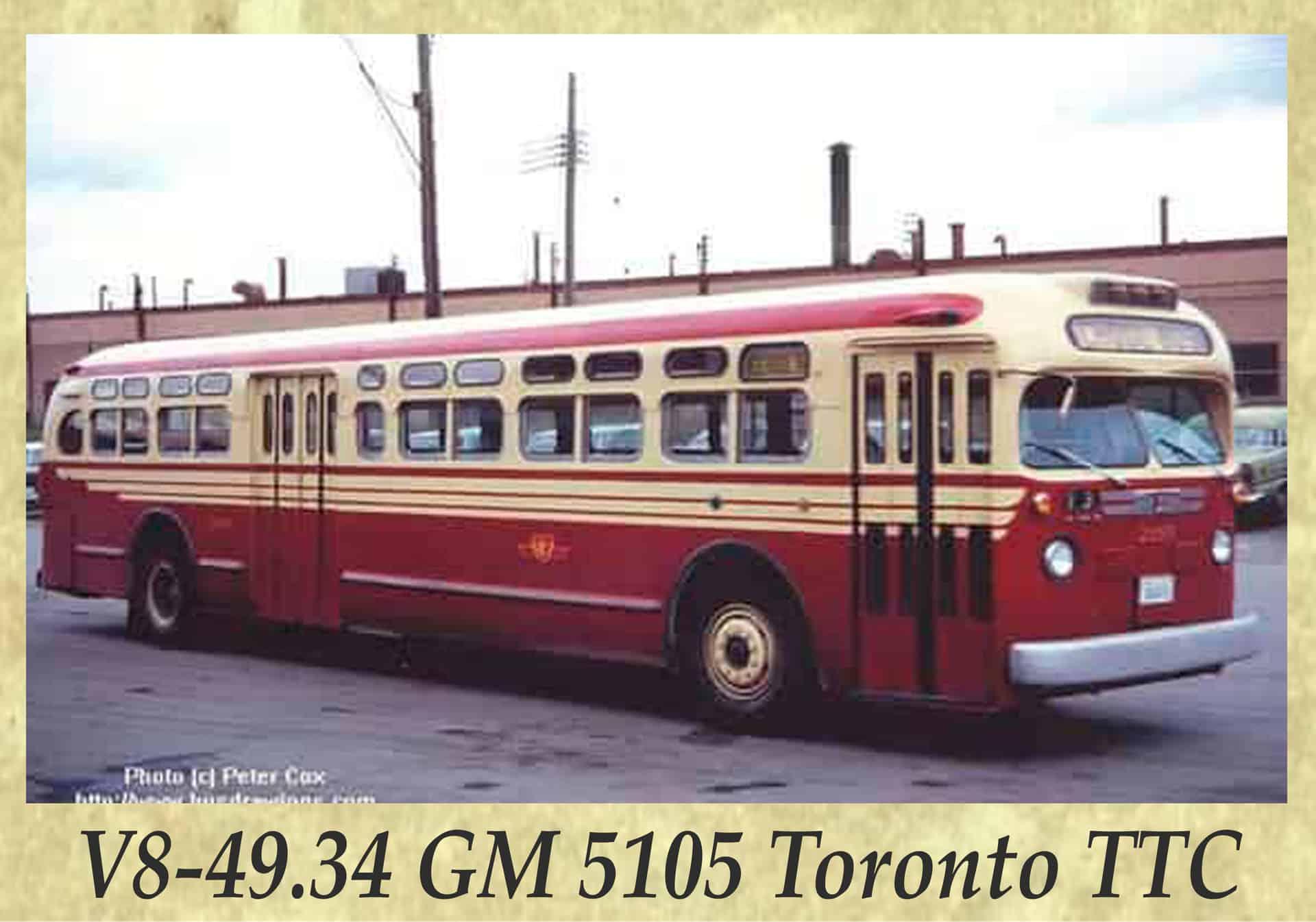 V8-49.34 GM 5105 Toronto TTC