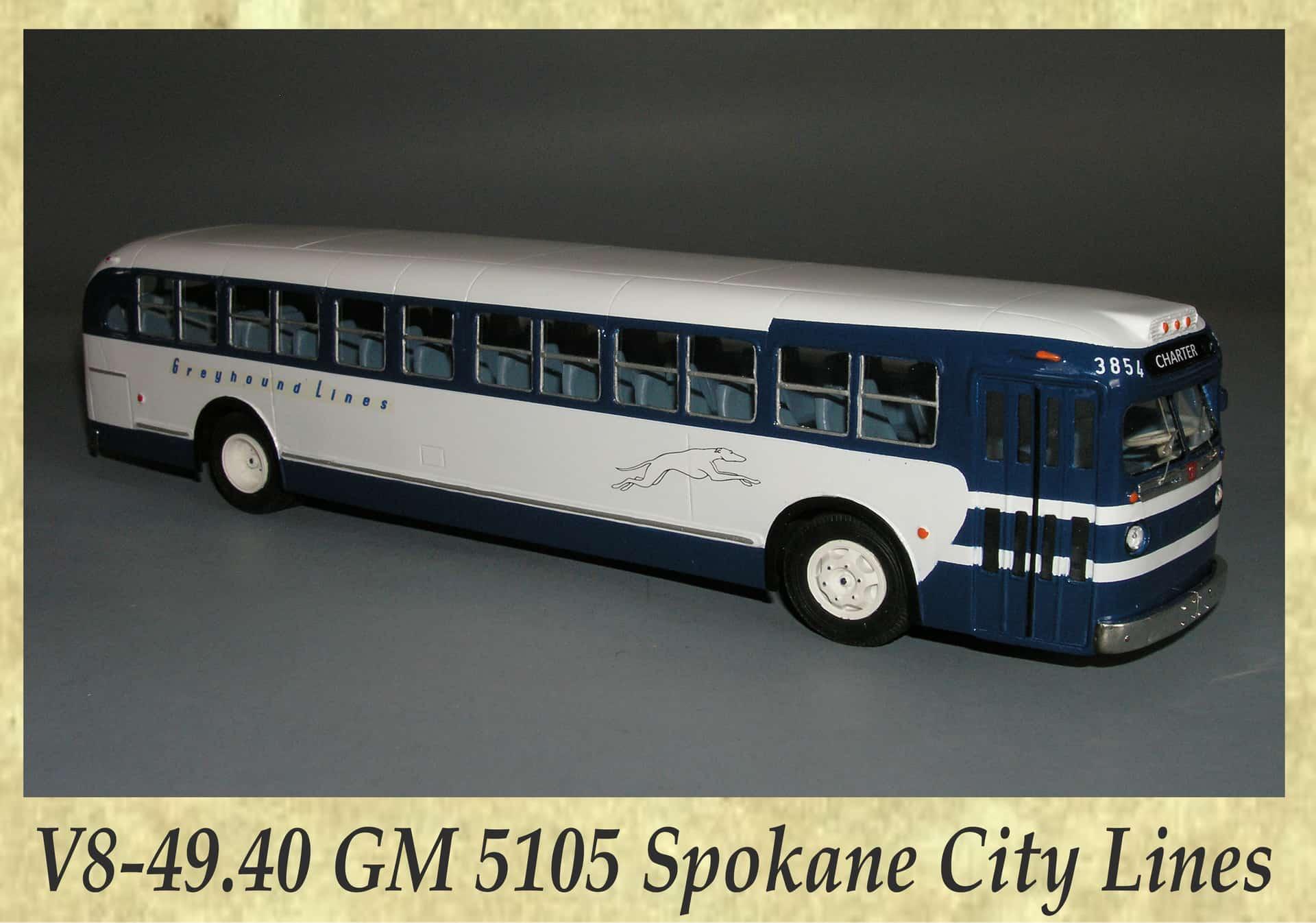 V8-49.40 GM 5105 Spokane City Lines