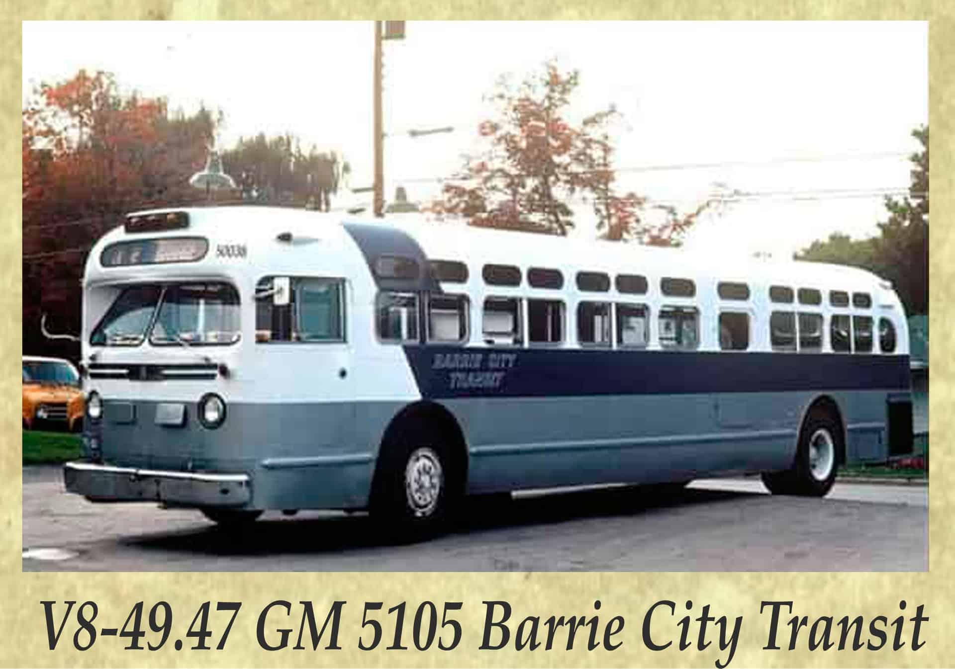 V8-49.47 GM 5105 Barrie City Transit