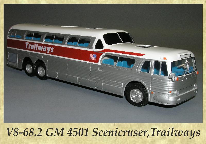 V8-68.2 GM 4501 Scenicruser,Trailways