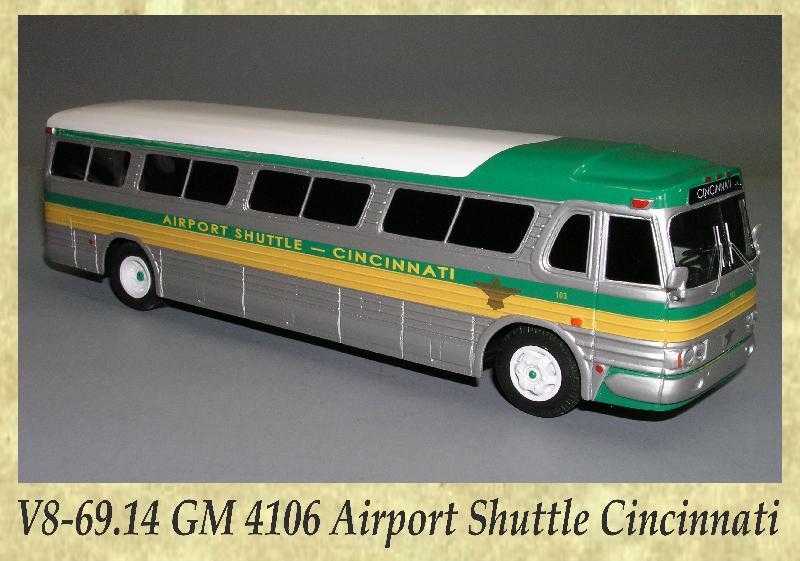 V8-69.14 GM 4106 Airport Shuttle Cincinnati
