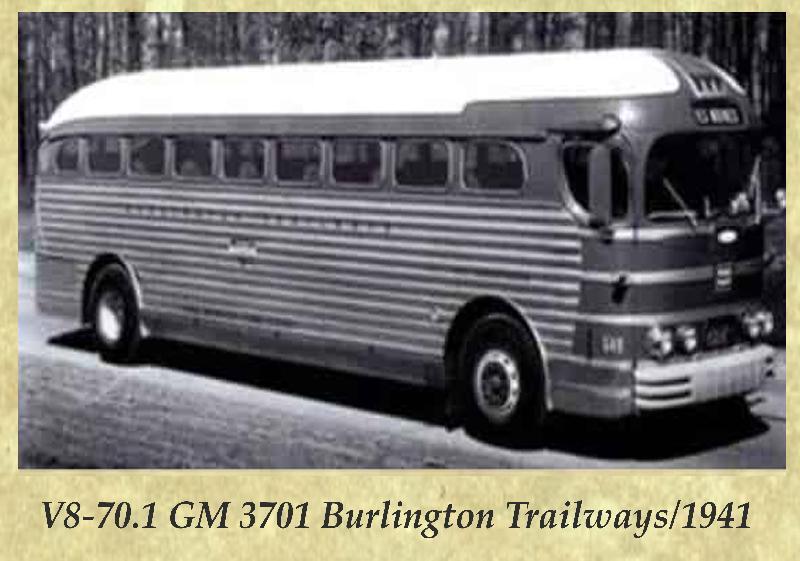 V8-70.1 GM 3701 Burlington Trailways 1941