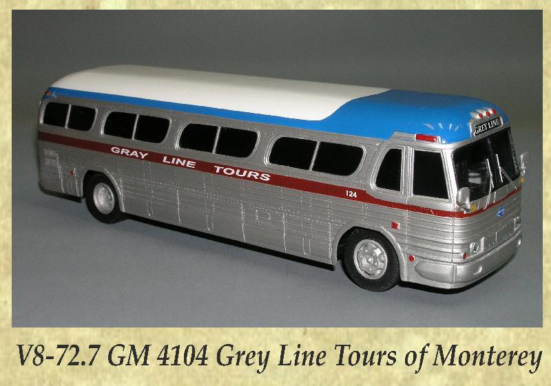 V8-72.7 GM 4104 Grey Line Tours of Monterey