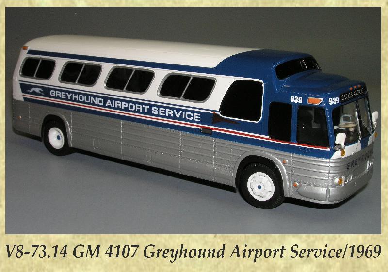 V8-73.14 GM 4107 Greyhound Airport Service 1969