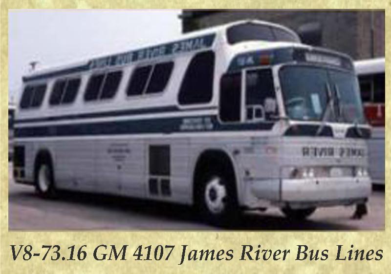 V8-73.16 GM 4107 James River Bus Lines