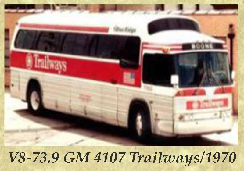 V8-73.9 GM 4107 Trailways 1970