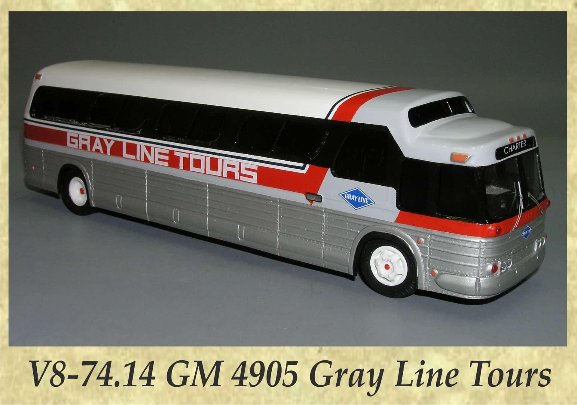 V8-74.14 GM 4905 Gray Line Tours