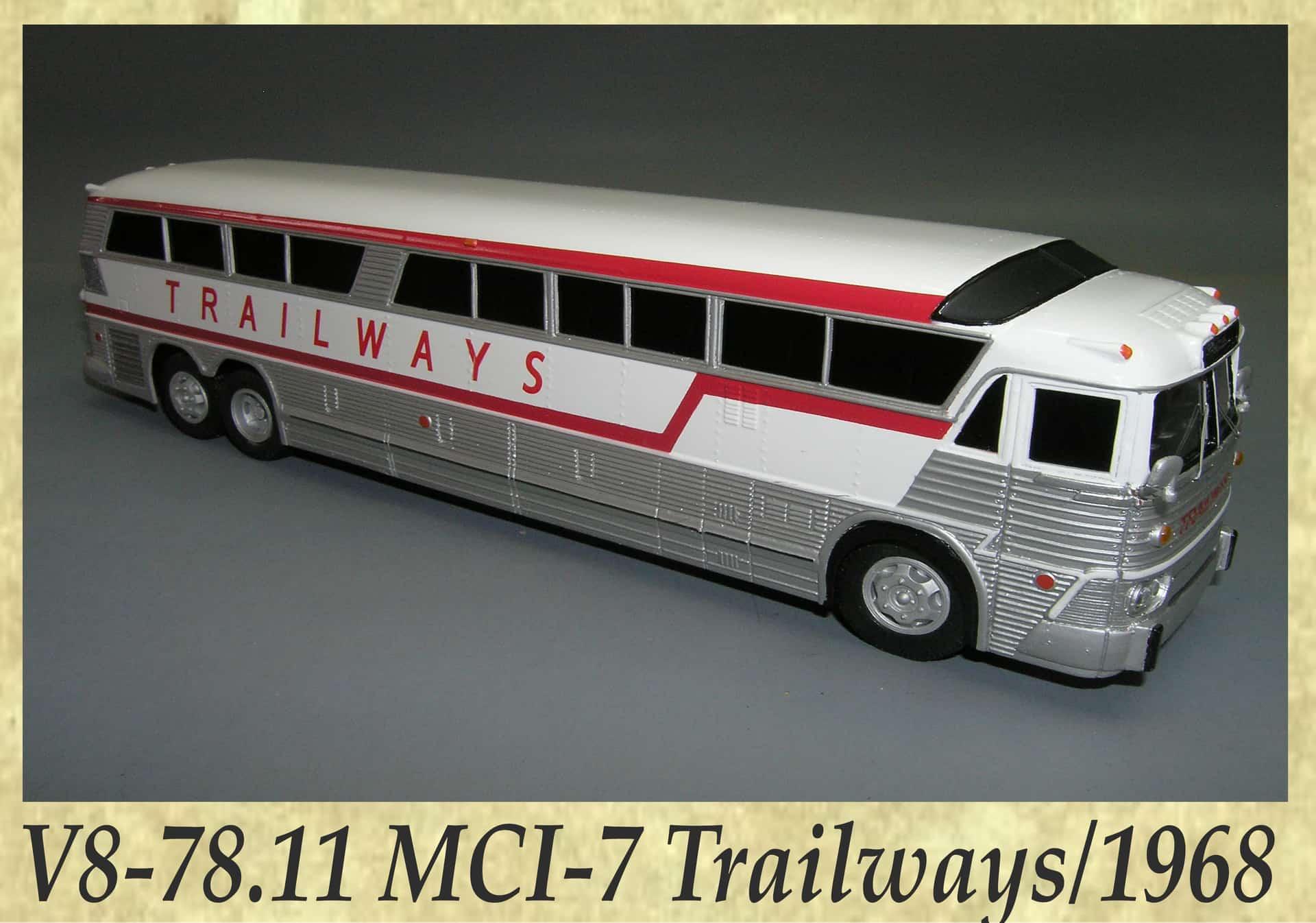 V8-78.11 MCI-7 Trailwaysn 1968