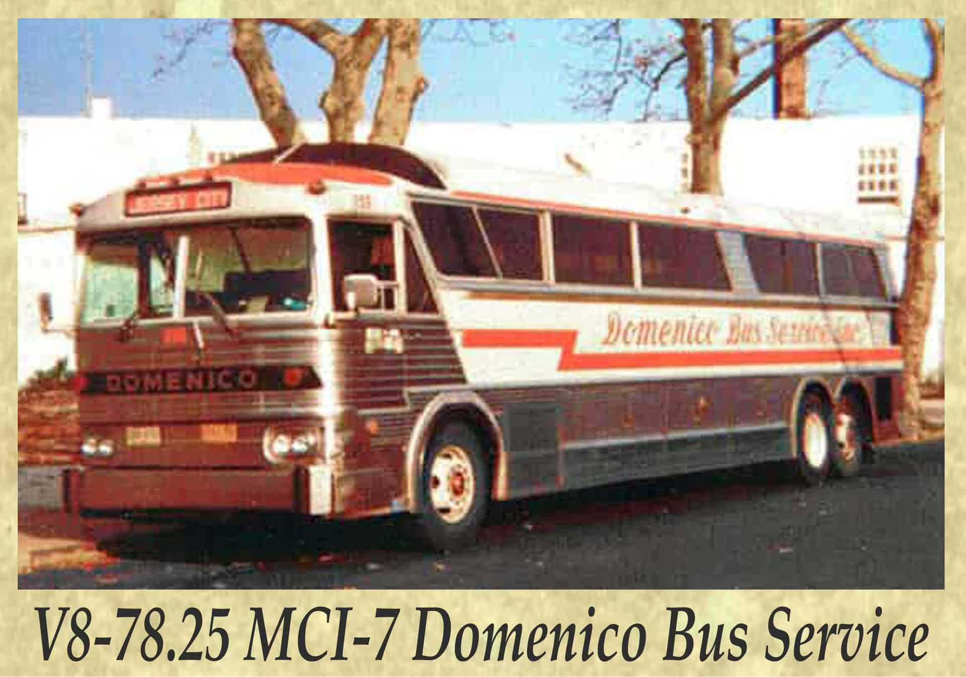 V8-78.25 MCI-7 Domenico Bus Service
