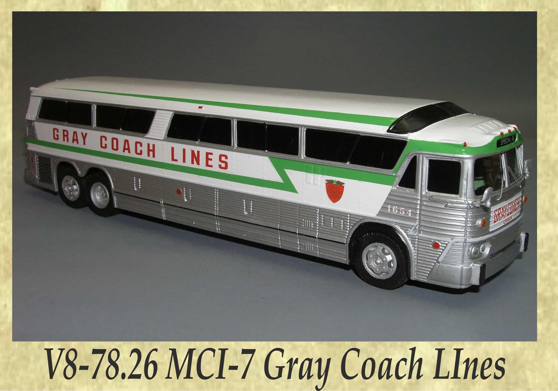 V8-78.26 MCI-7 Gray Coach LInes