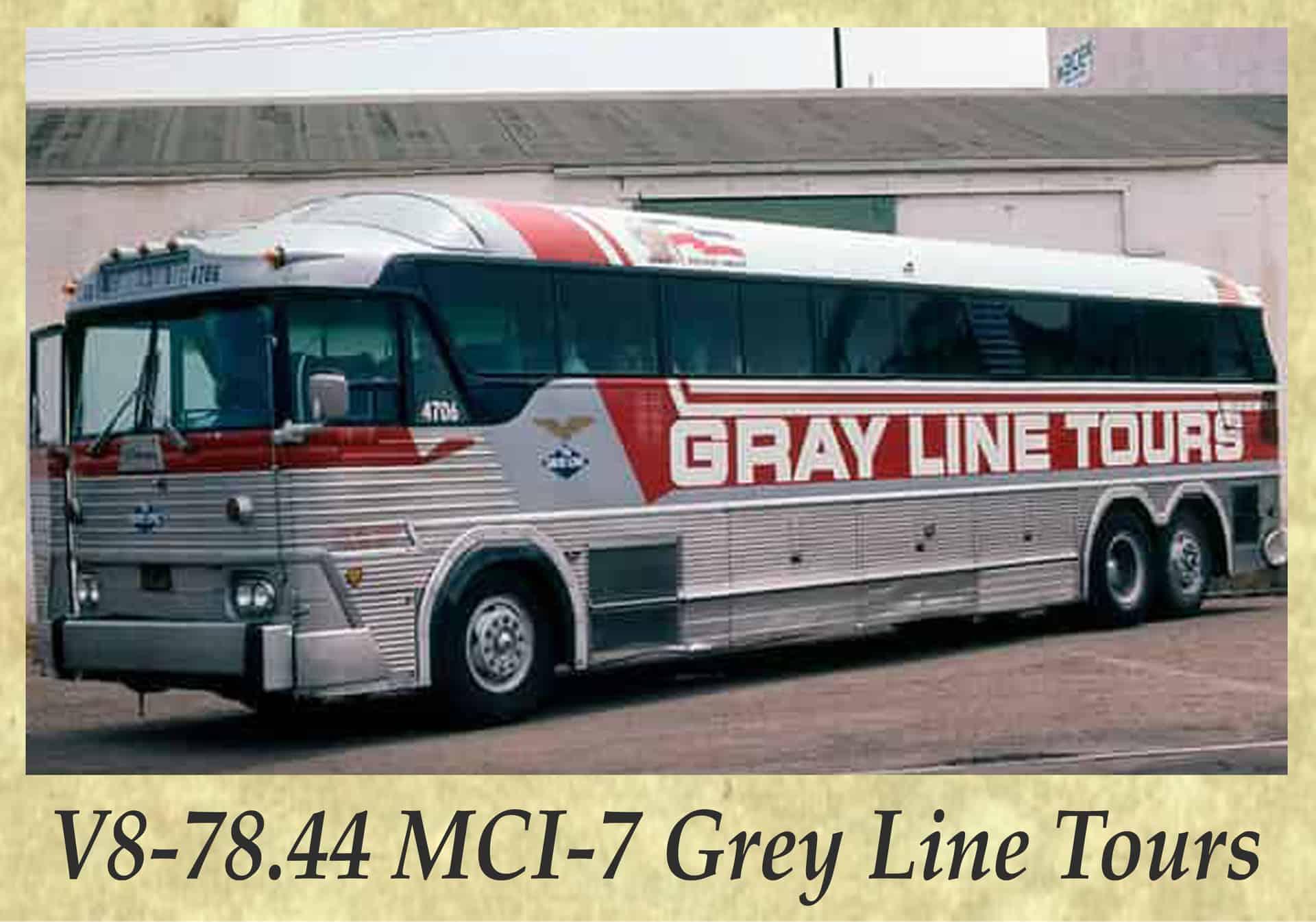 V8-78.44 MCI-7 Grey Line Tours
