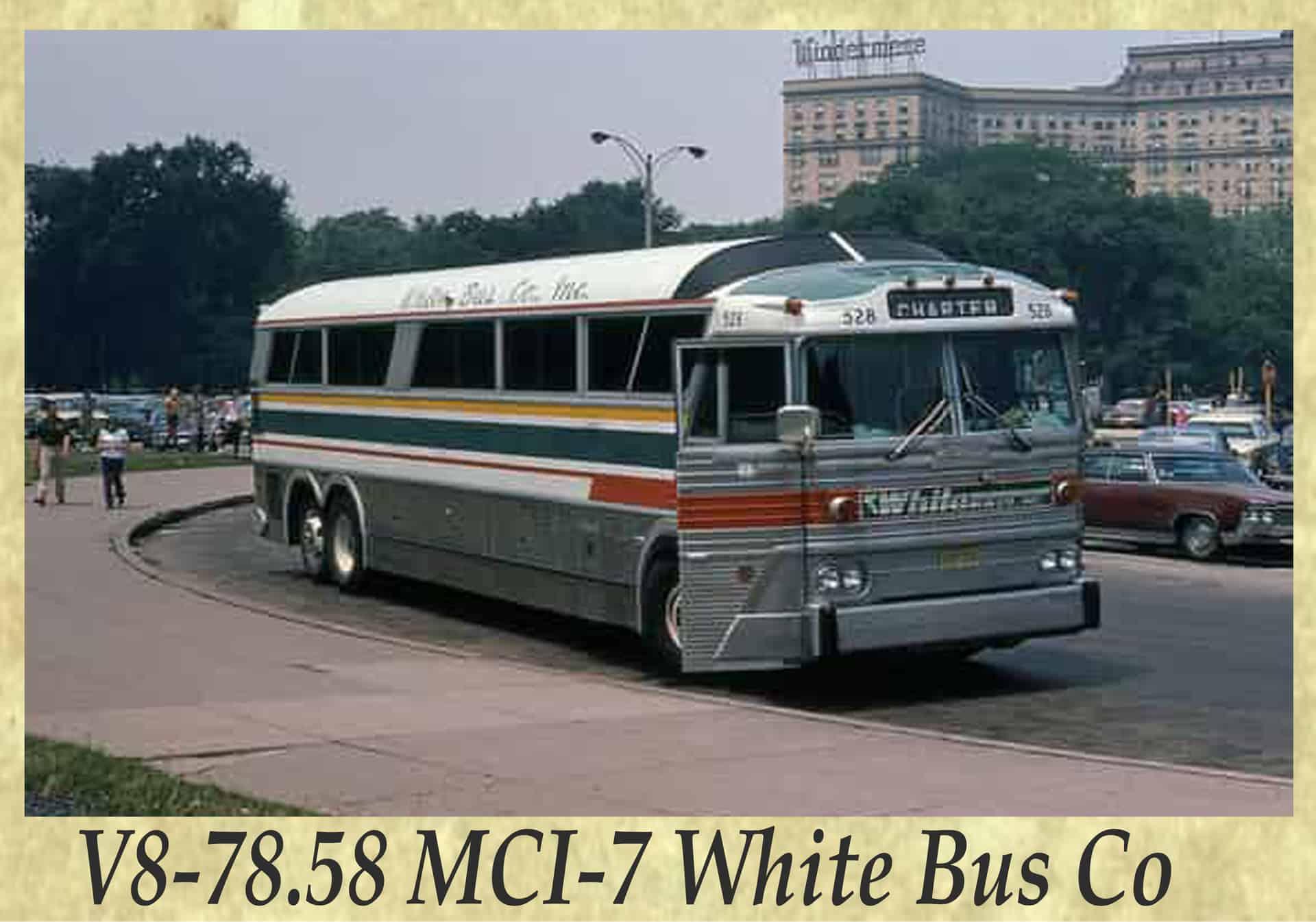 V8-78.58 MCI-7 White Bus Co