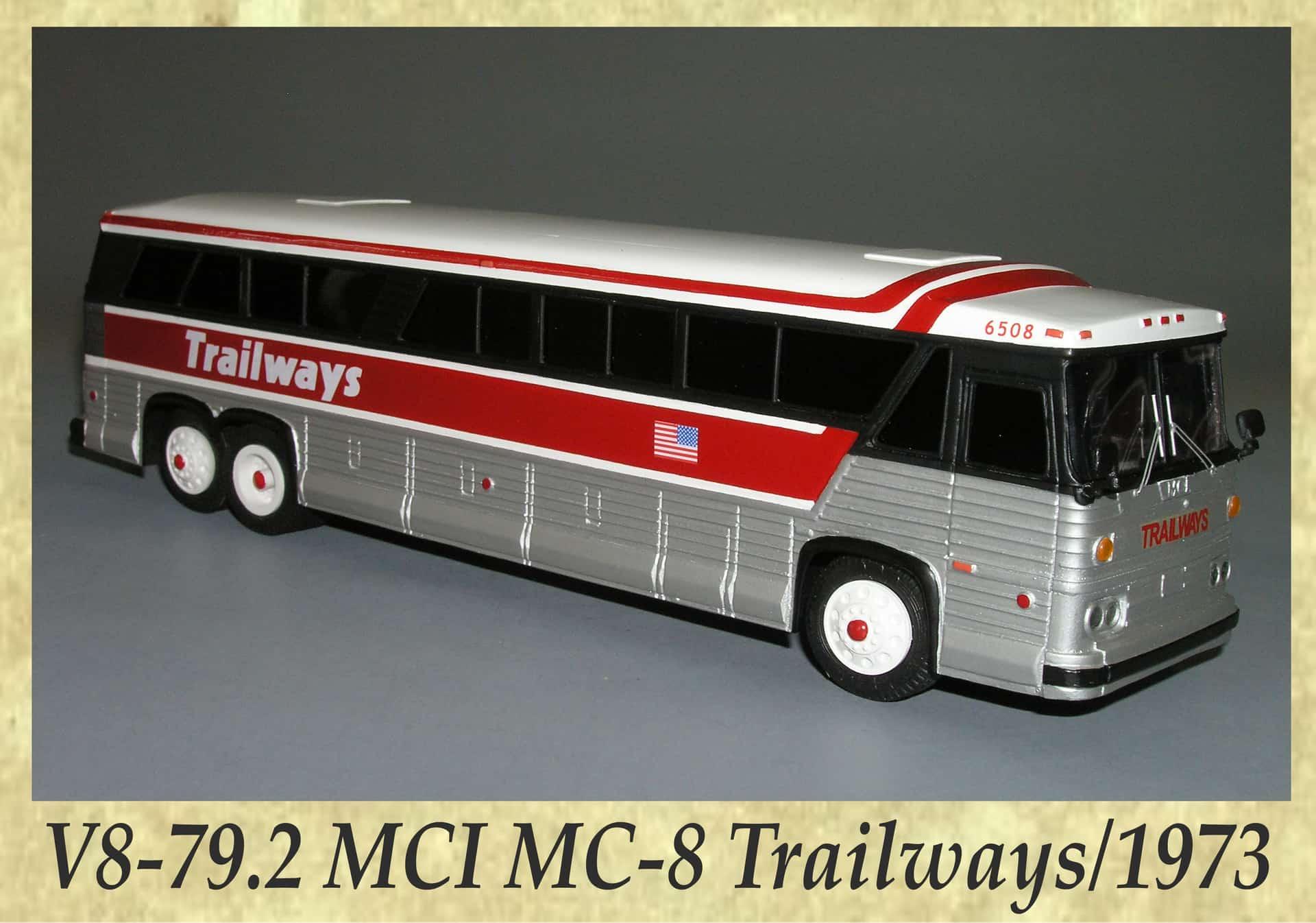 V8-79.2 MCI MC-8 Trailways 1973