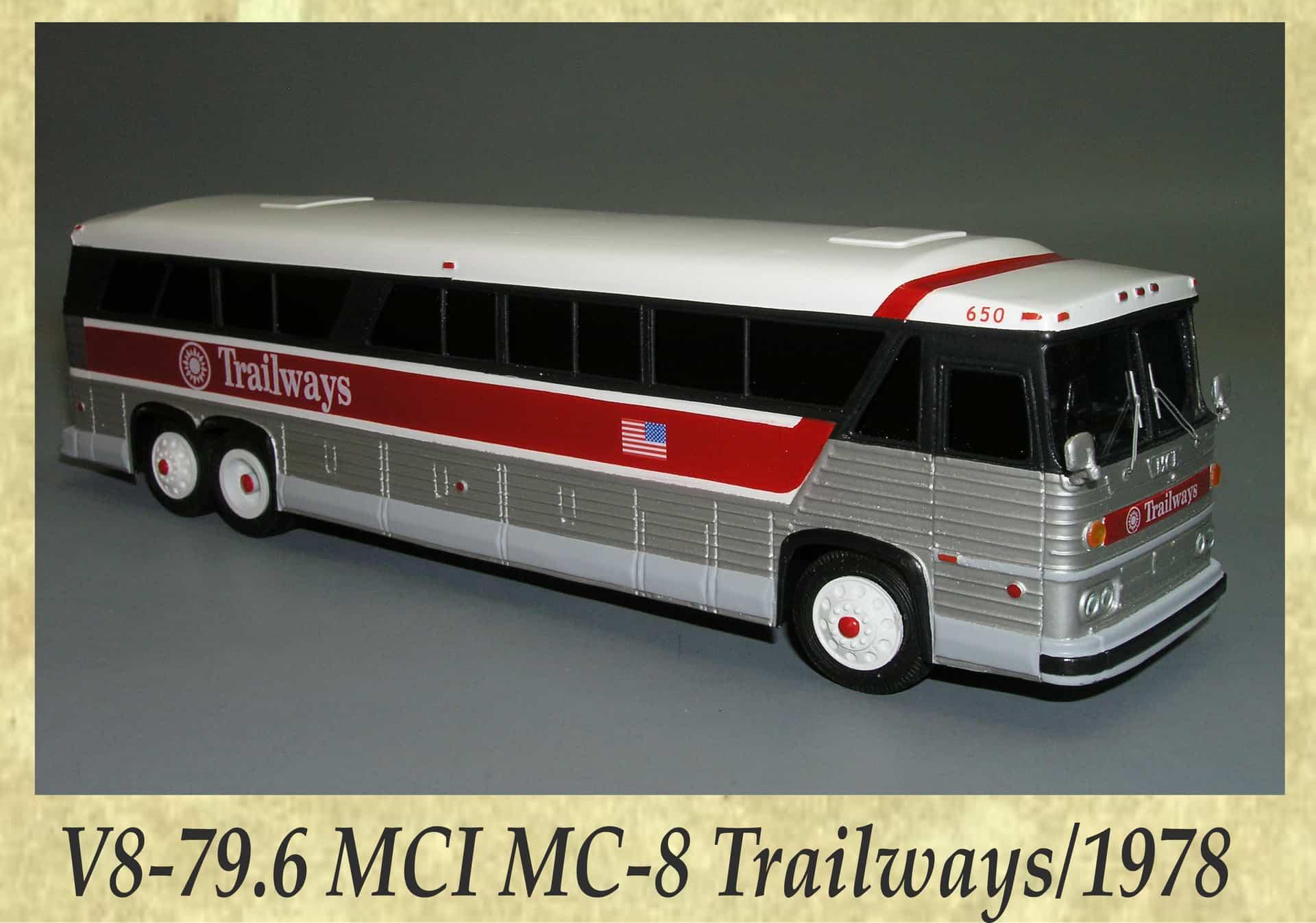V8-79.6 MCI MC-8 Trailways 1978