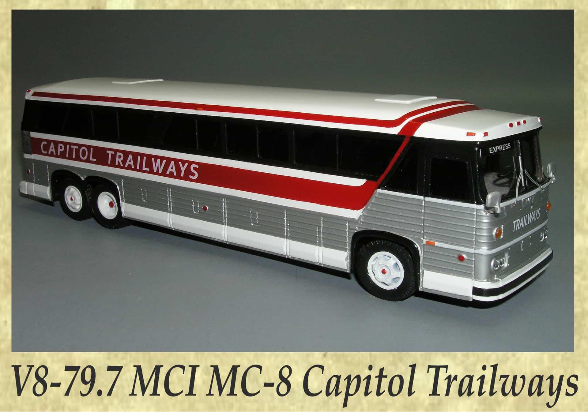 V8-79.7 MCI MC-8 Capitol Trailways