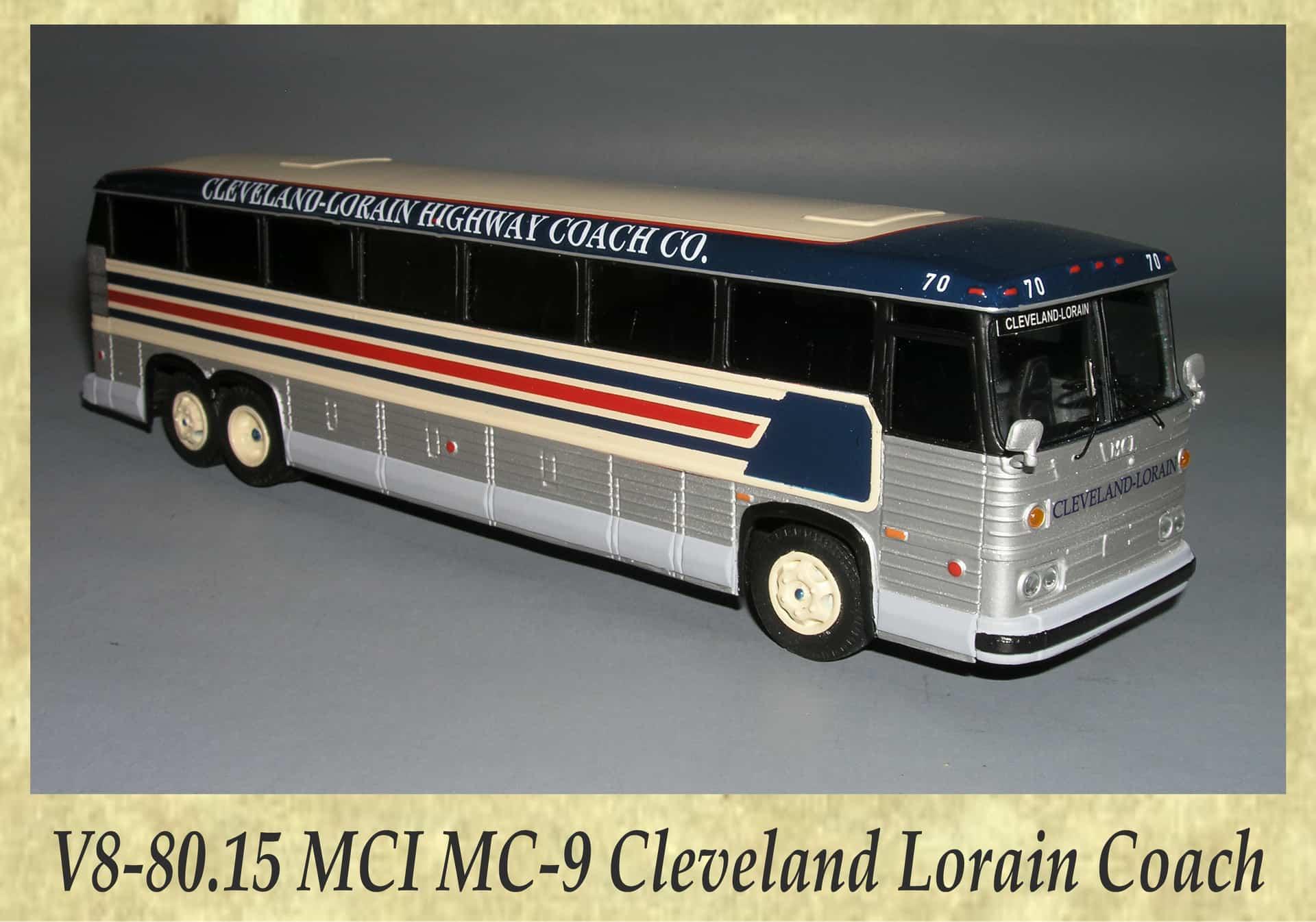V8-80.15 MCI MC-9 Cleveland Lorain Coach
