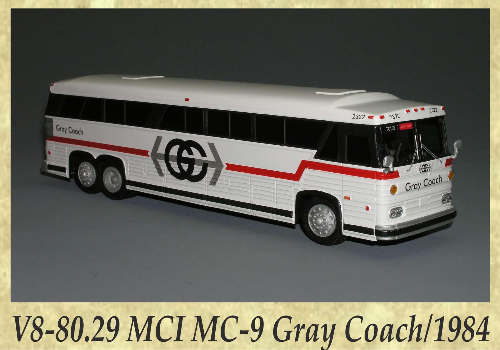 V8-80.29 MCI MC-9 Gray Coach 1984