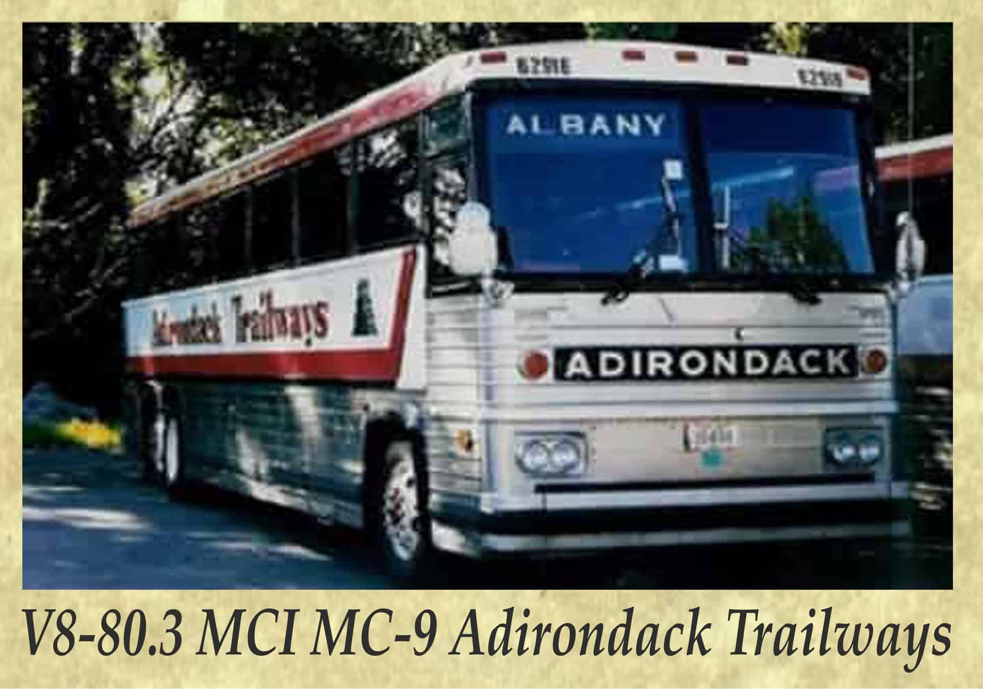 V8-80.3 MCI MC-9 Adirondack Trailways