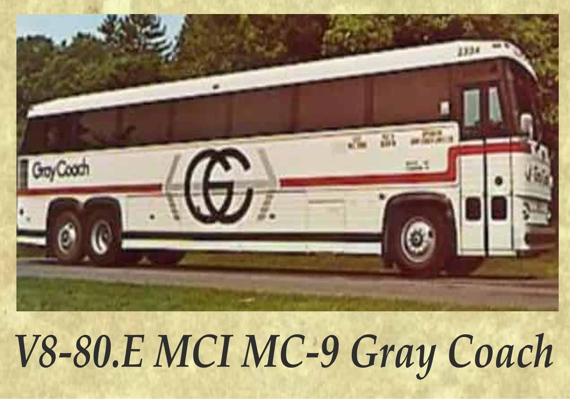 V8-80.E MCI MC-9 Gray Coach