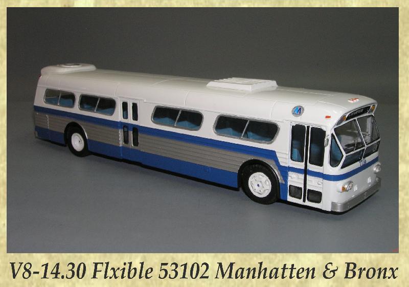 V8-14.30 Flxible 53102 Manhatten & Bronx