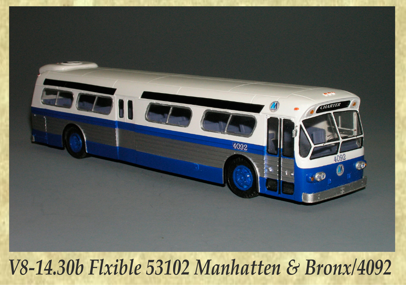 V8-14.30b Flxible 53102 Manhatten & Bronx 4092