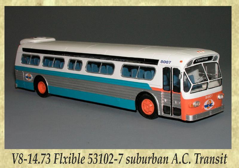 V8-14.73 Flxible 53102-7 suburban A.C. Transit