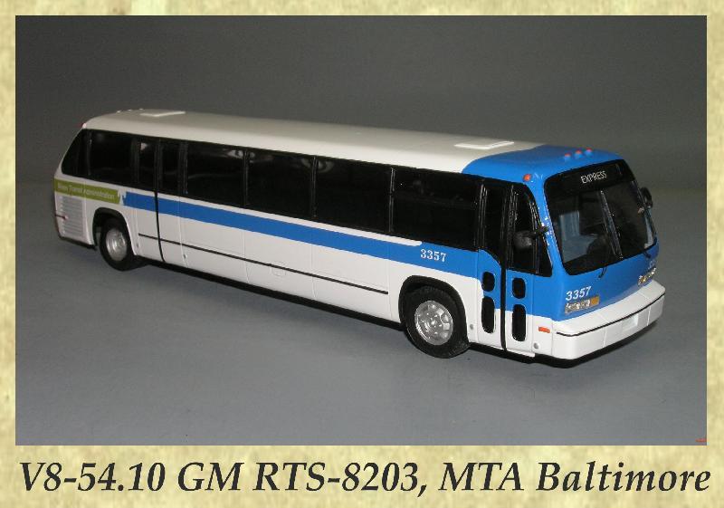 V8-54.10 GM RTS-8203, MTA Baltimore