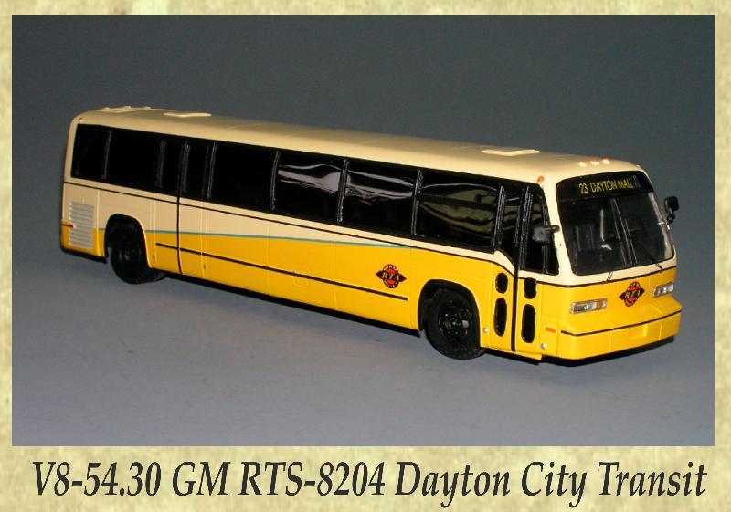 V8-54.30 GM RTS-8204 Dayton City Transit