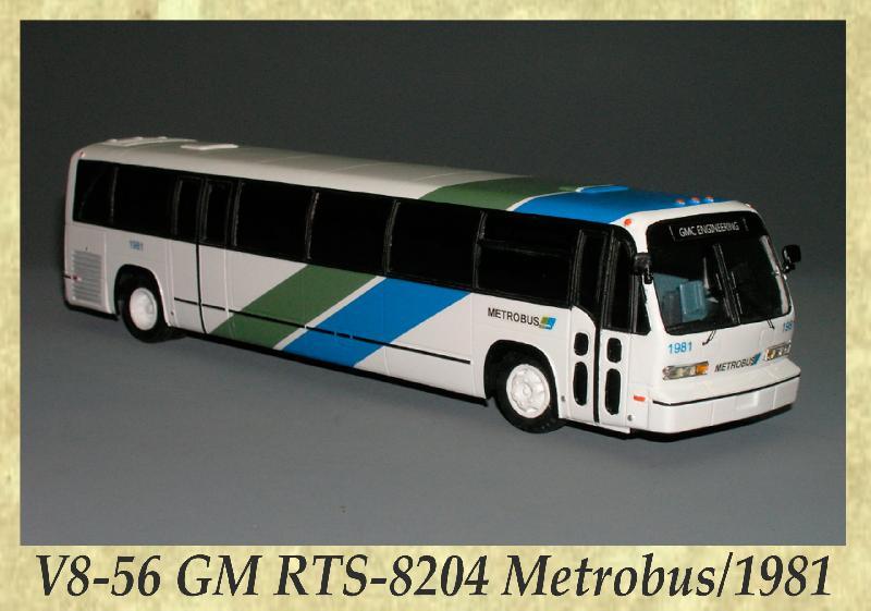 V8-56 GM RTS-8204 Metrobus, 1981