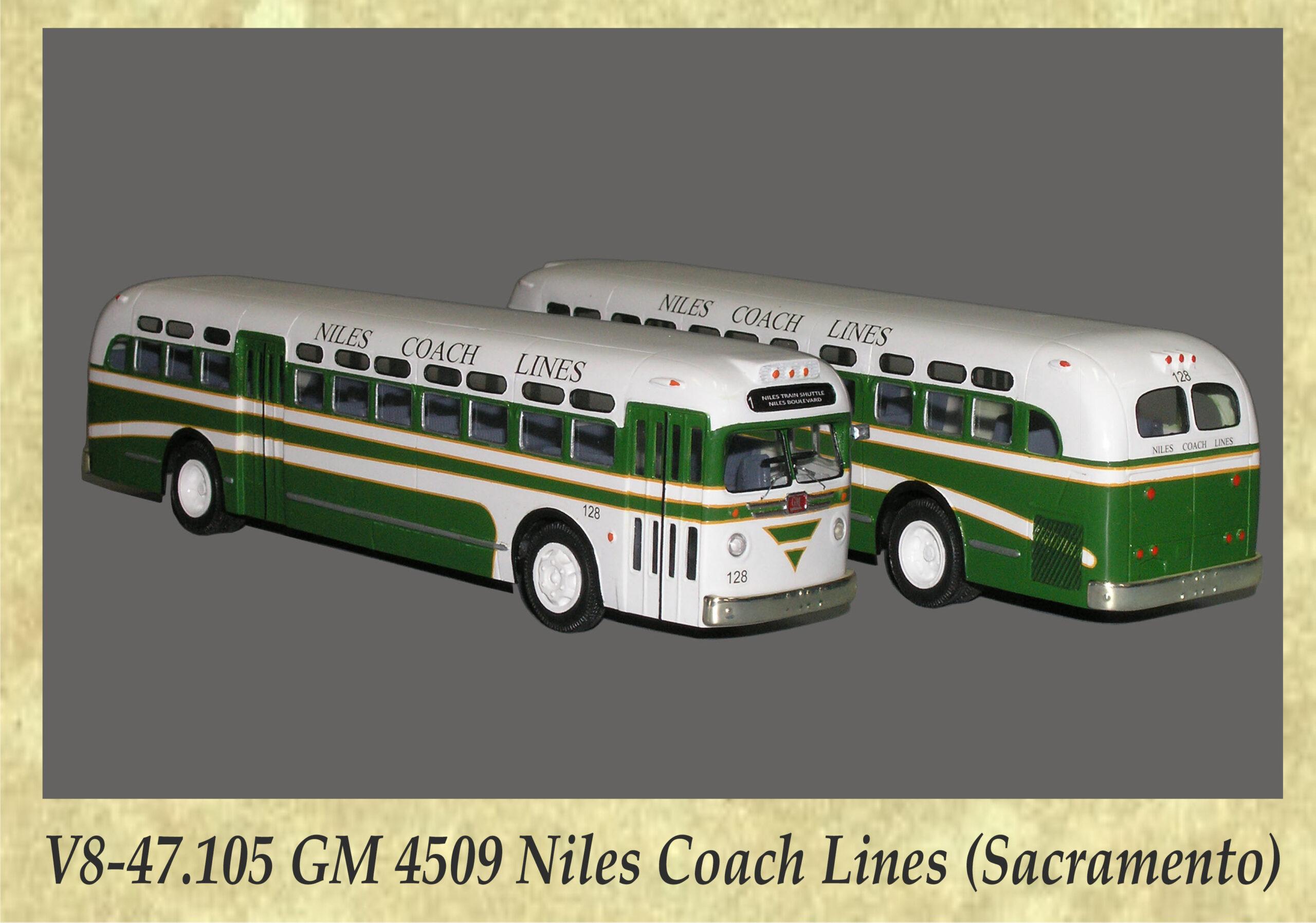 V8-47.105 GM 4509 Niles Coach Lines (Sacramento)