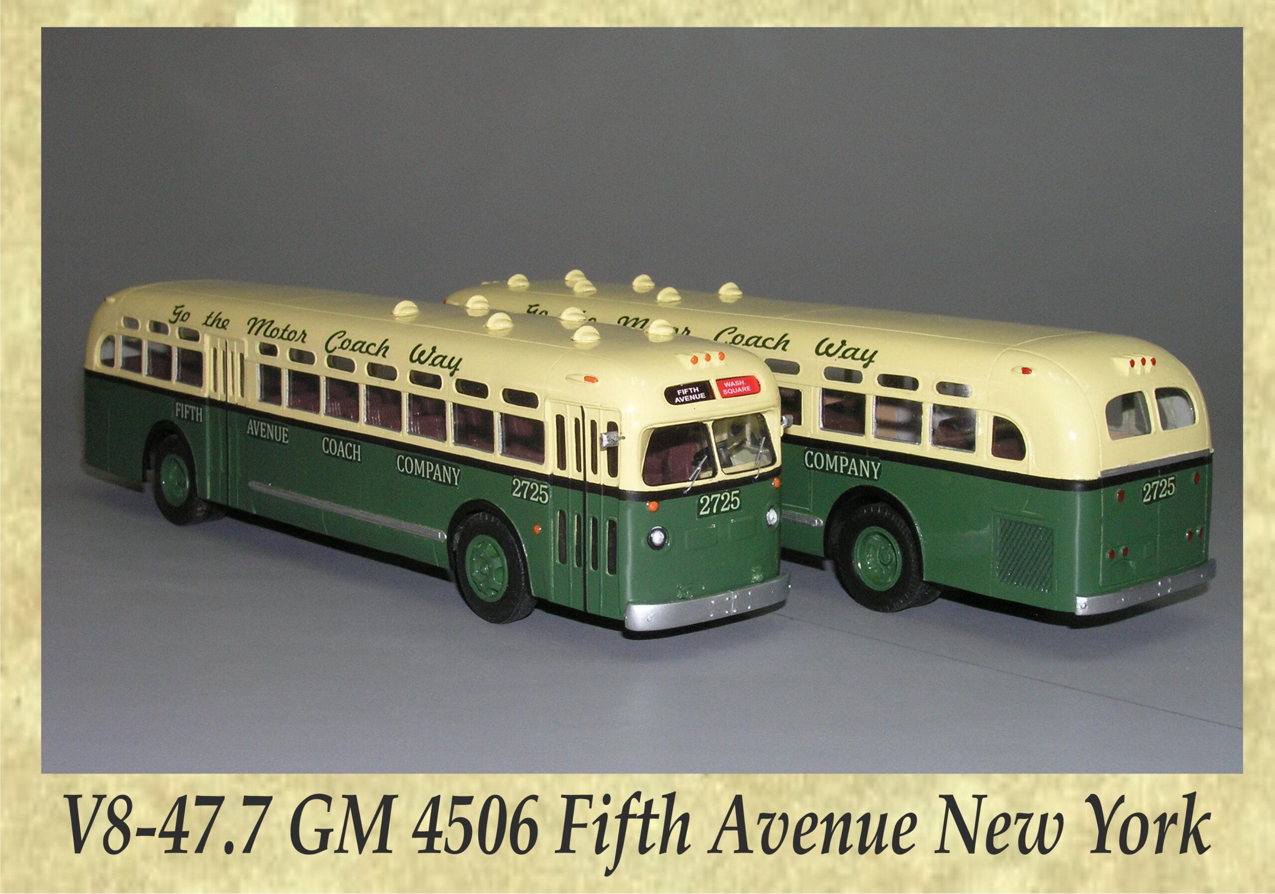 V8-47.7 GM 4506 Fifth Avenue New York
