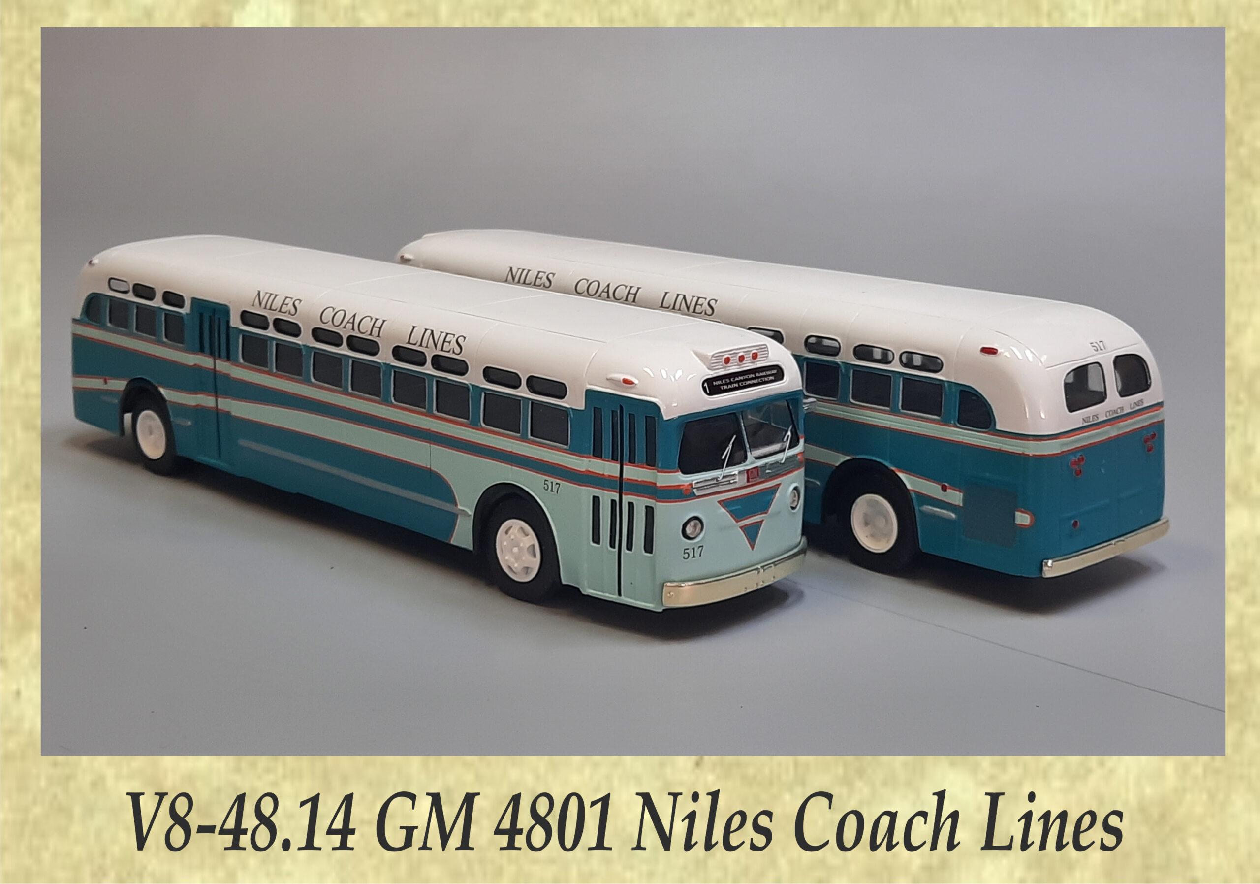 V8-48.14 GM 4801 Niles Coach Lines