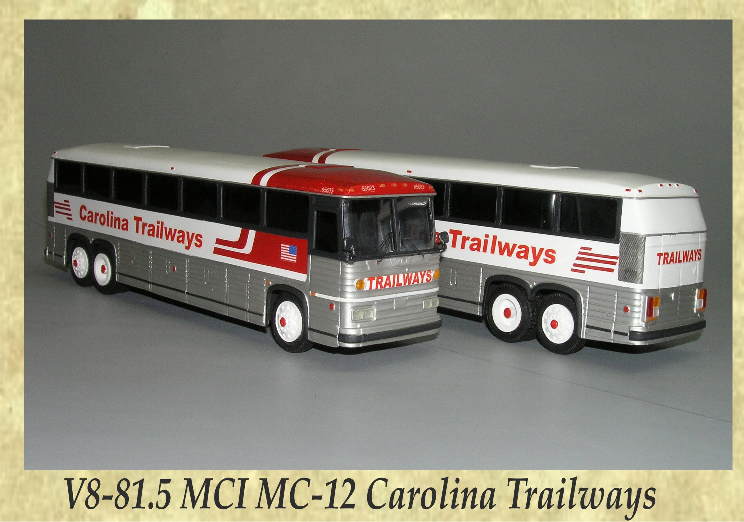 V8-81.5 MCI MC-12 Carolina Trailways